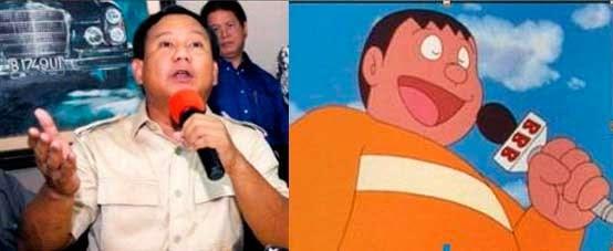 Prabowo Pemarah Mirip Seperti Giant di Doraemon