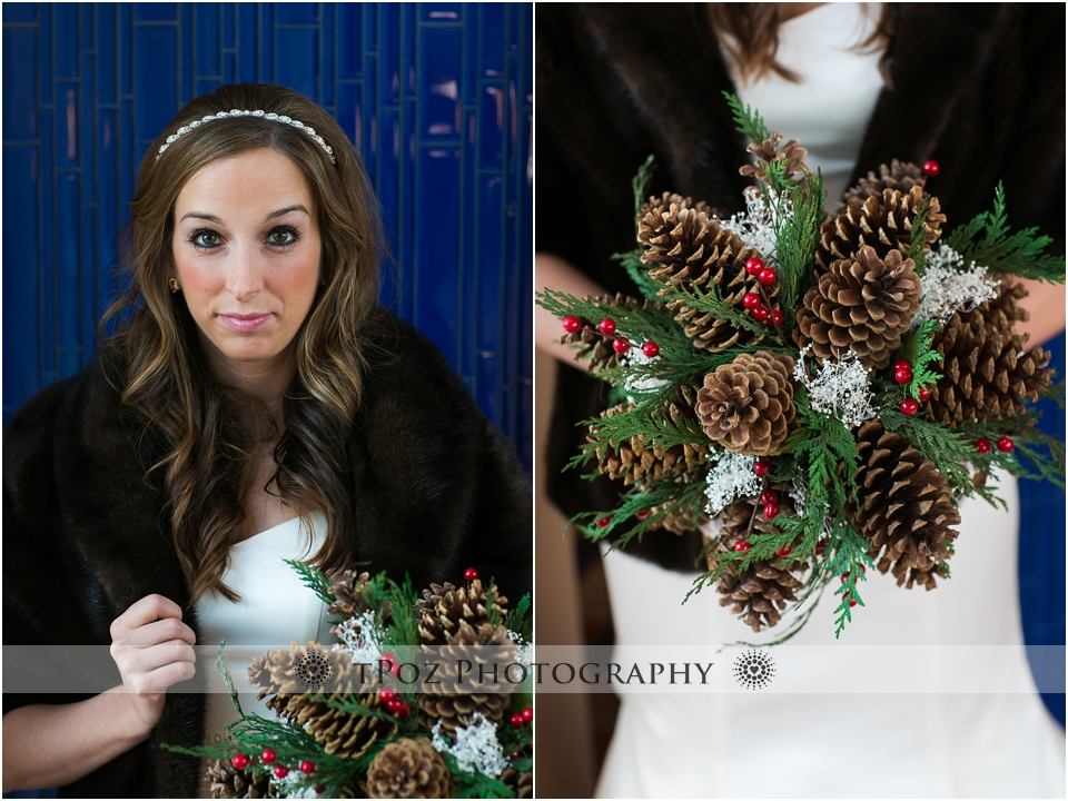 pinecone wedding bouquet