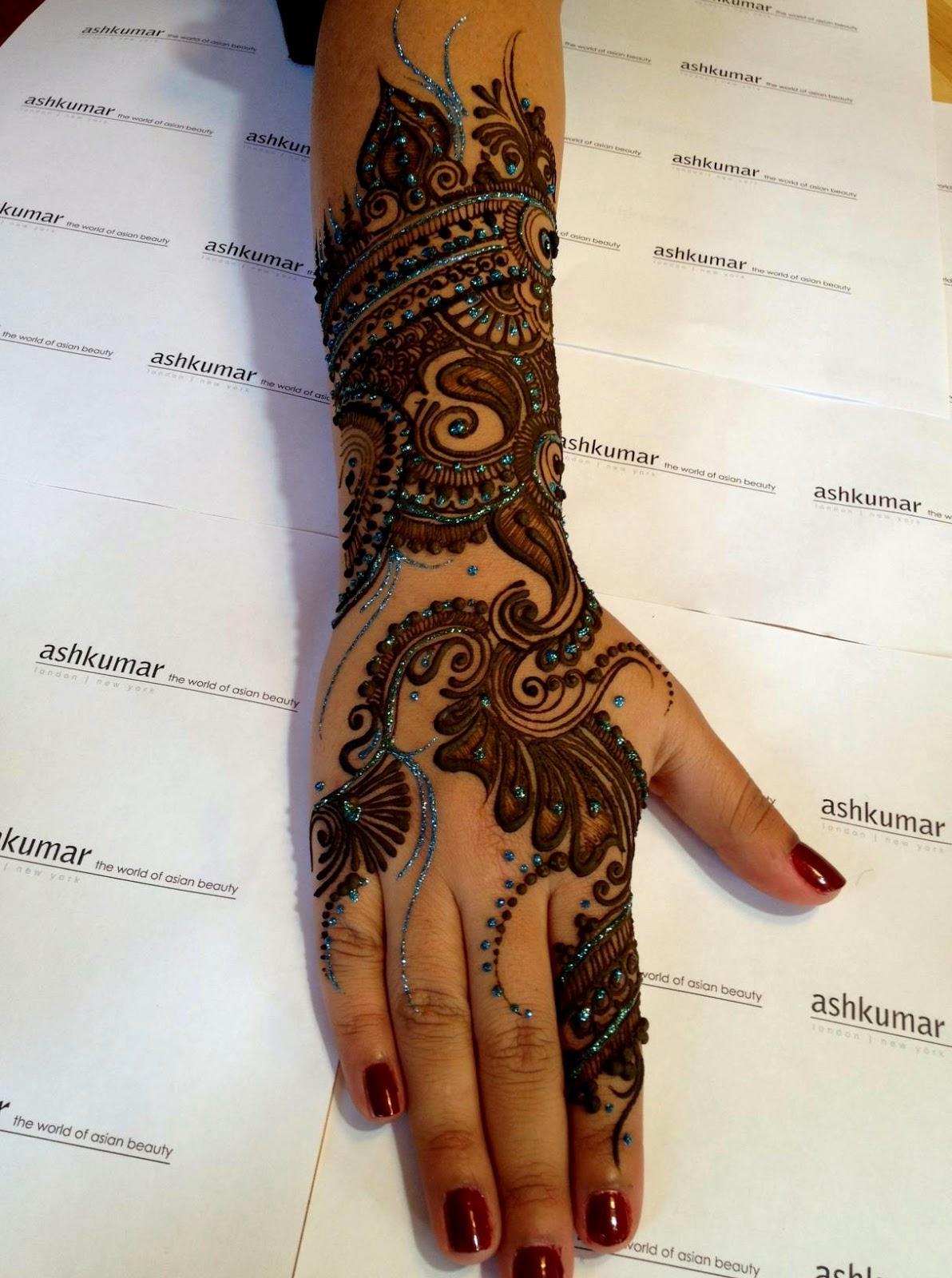 celebrity mehndi designs 2014
