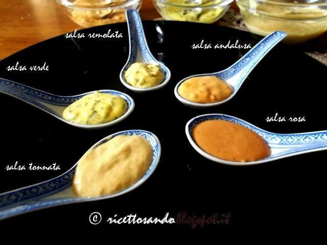 Salsa maionese ricette nelle varianti classiche salsa tonnata, salsa verde, salsa rosa, salsa remolata, salsa andalusa