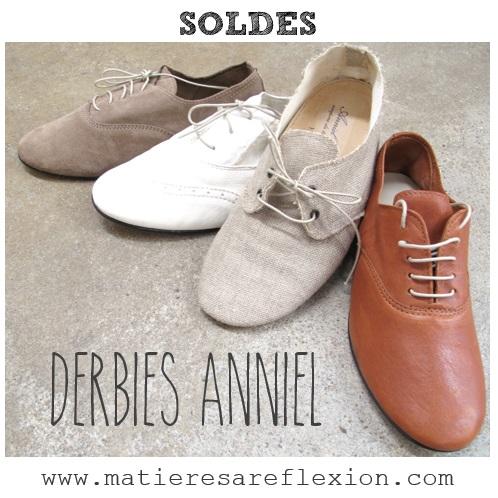 [SOLDES]  Selection de derbies femme Anniel