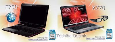 Harga Laptop Toshiba Qosmio X770 dan Toshiba Qosmio F750