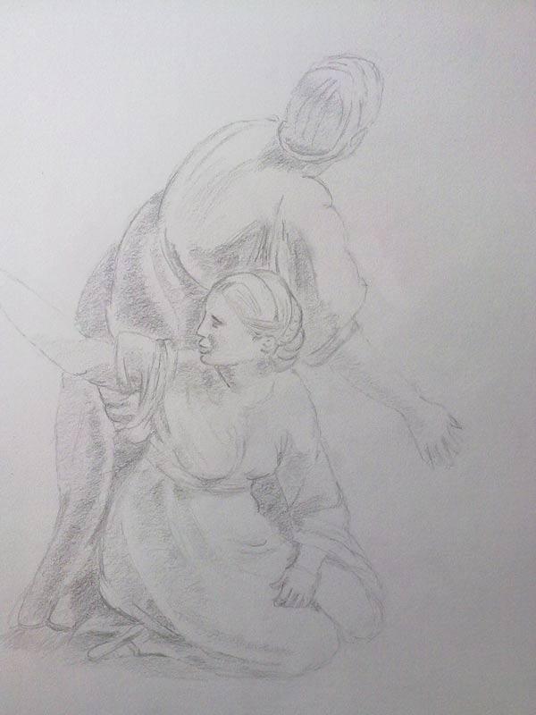 Copia de un dibujo de rafael sanzio