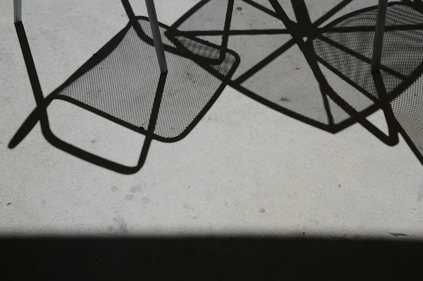 Chair shadows, Southern Cross University campus, Lismore