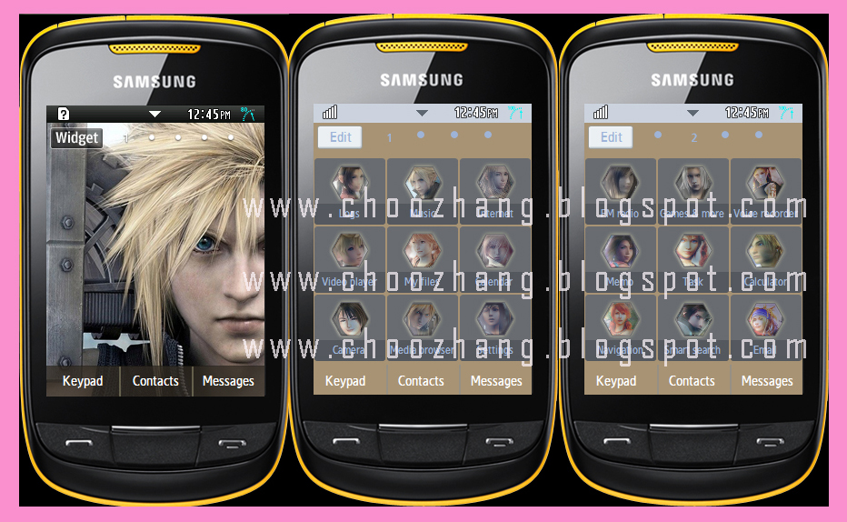 Samsung Corby 2 or S3850 - Final Fantasy Theme