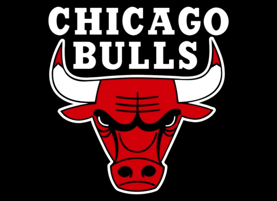 Chicago Bulls logo is a robot reading a book when upside down