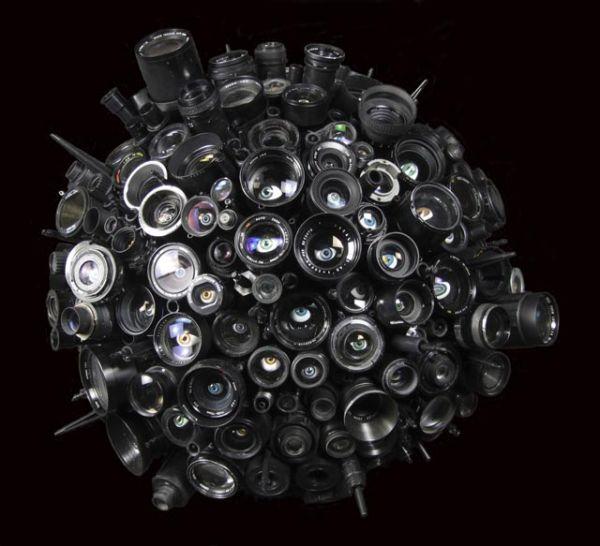 10 maneiras de reciclar lentes fotográficas arte