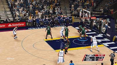 NBA 2K14 Memphis Grizzlies Court Mod