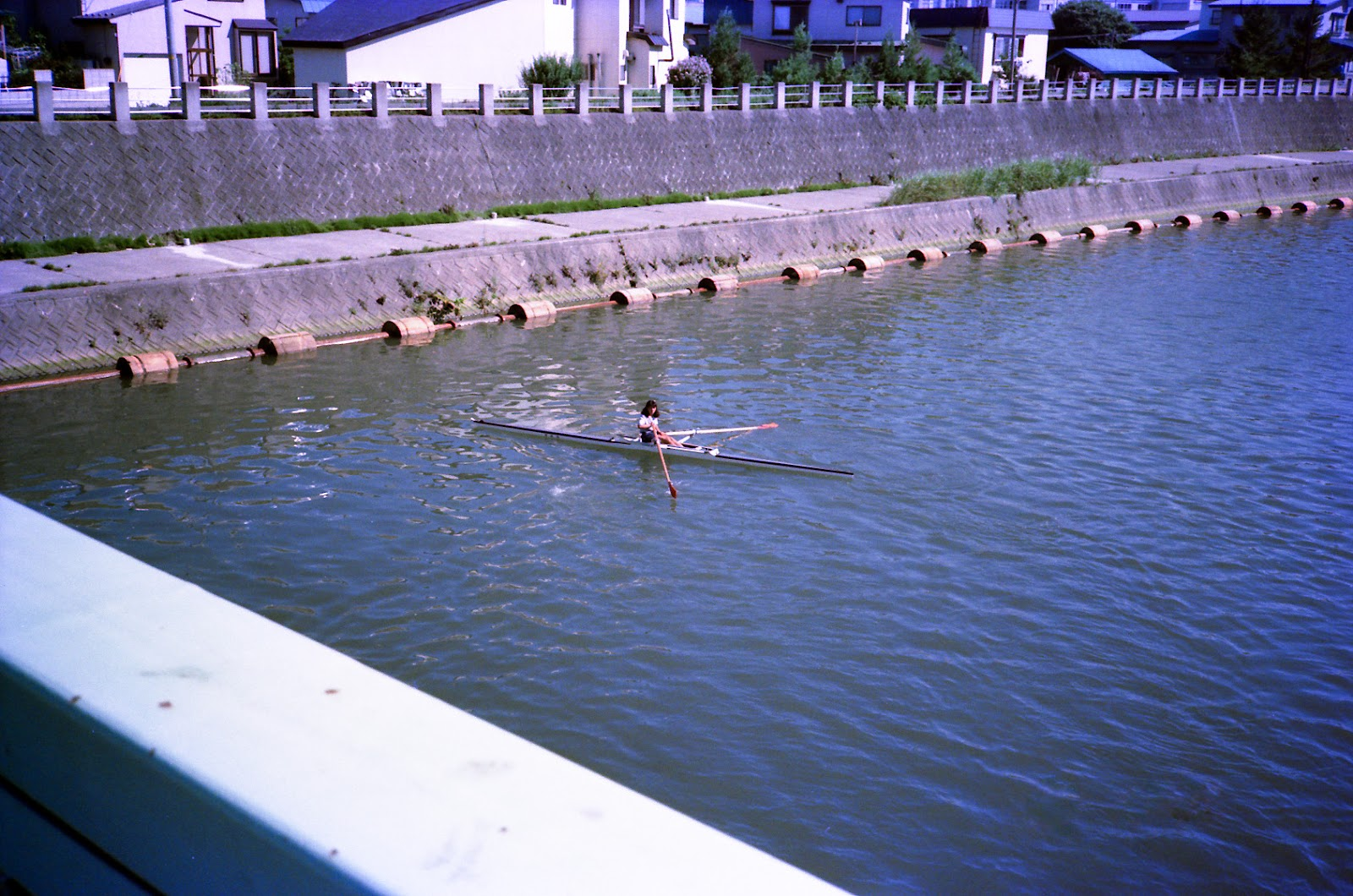 ボート部練習,下筒井橋,青森市〈著作権フリー無料画像〉Free Stock Photos