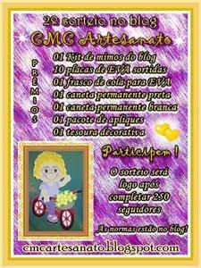 """EIS O 2º SORTEIO NO BLOG """"CMC ARTESANATO"""""""