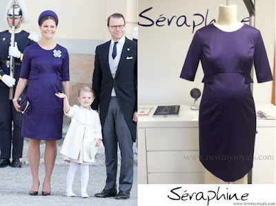 Crown Princess Victoria wore SERAPHINE Bespoke Dress