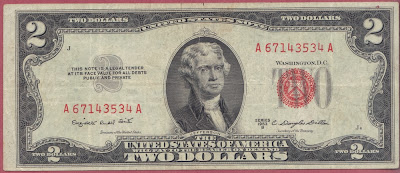 United States of America 2 Dollars serie 1953 P# 380b