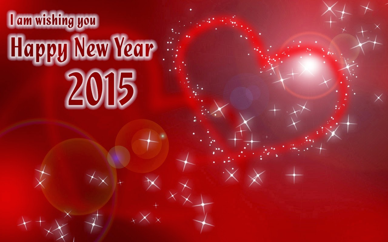 Lovely Heart Shape Happy New Year Wishes 2015 Images