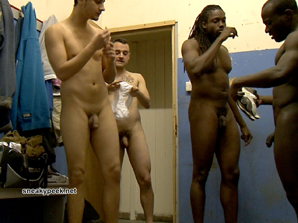Are Naked black girls in the locker room shower for