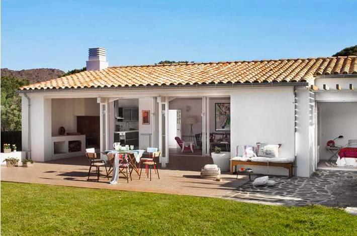 casa mediterránea y vintage