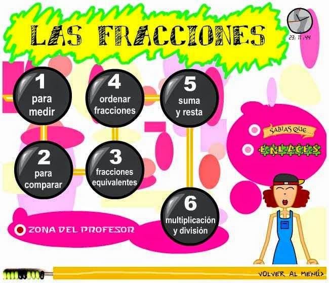 http://www.juntadeandalucia.es/averroes/ies_azahar/MATEMATICAS1/fracciones/menu.html