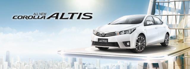 Mobil Toyota Altis Putih Bersih