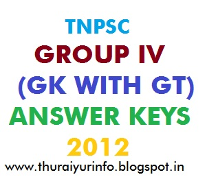 tnpsc group iv answer keys