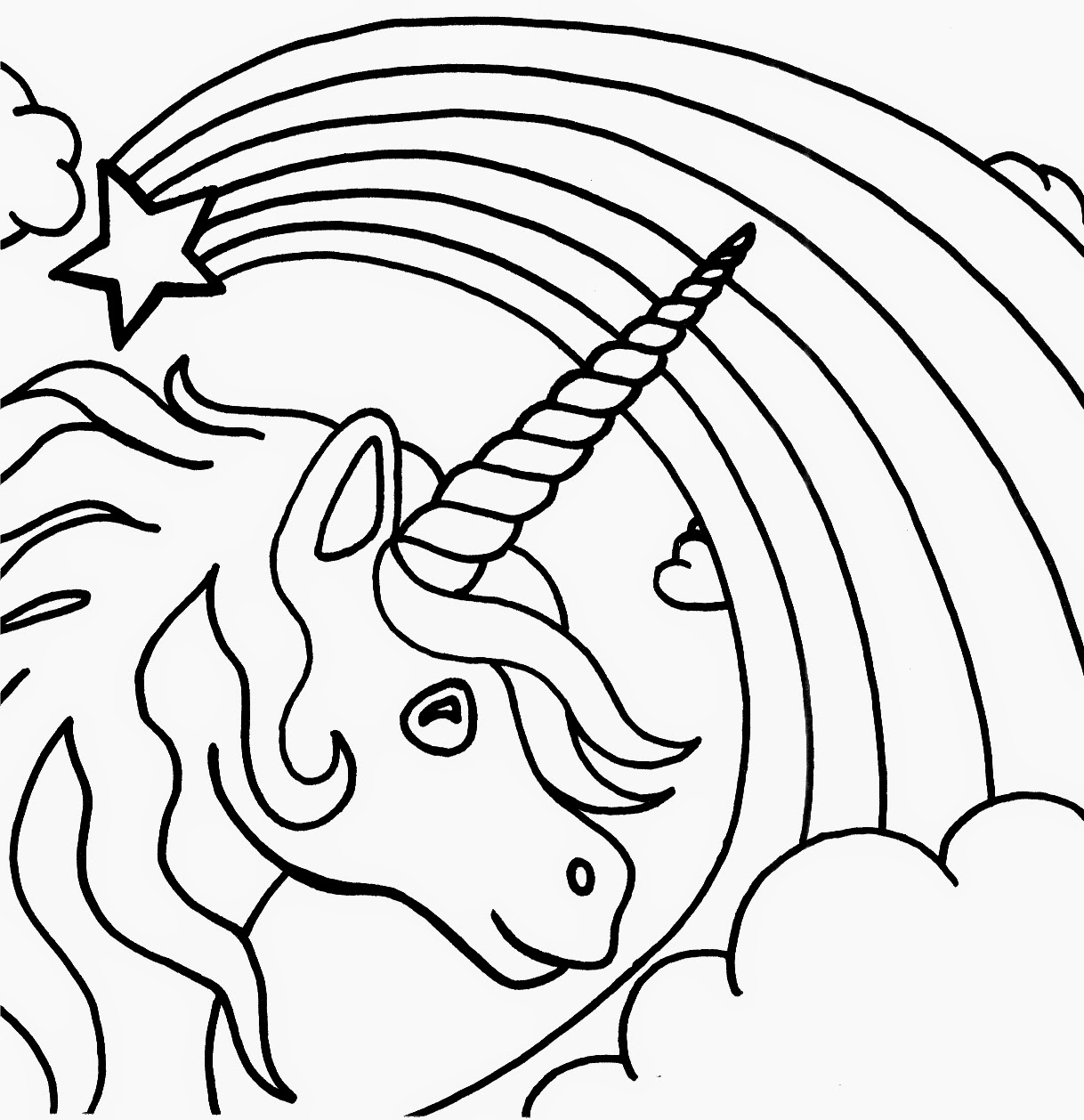 detailed unicorn coloring pages - coloring pages unicorn coloring pages free and printable