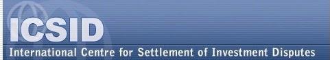 Centro Internacional de Arreglo de Diferencias Relativas a Inversiones, ICSID