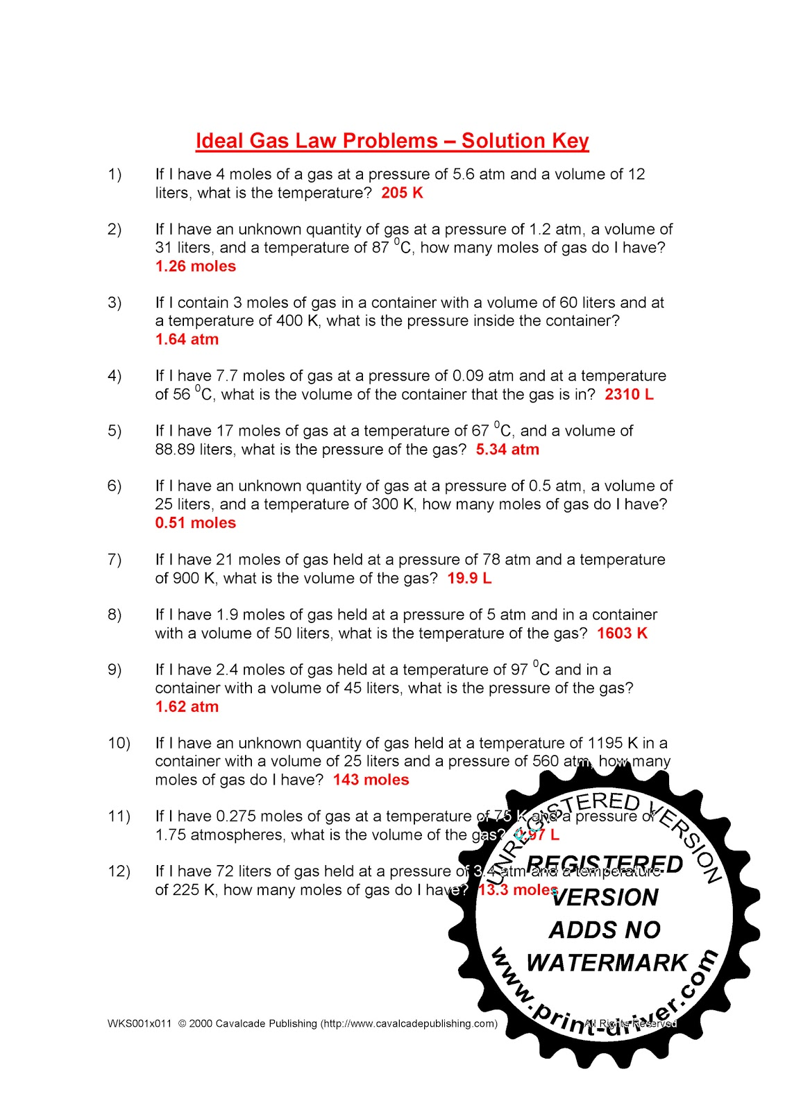 worksheet Gas Laws Worksheet Answer Key worksheet ideal gas law key thedanks for everyone worksheets problems tokyoobserver just worksheet