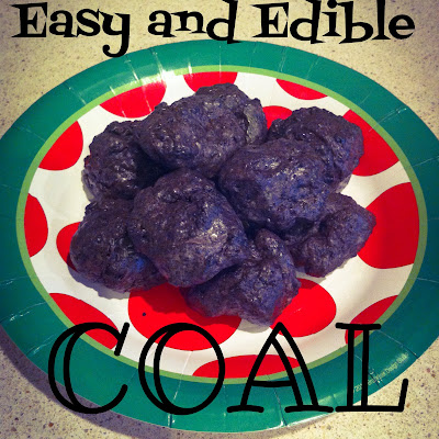Easy and Edible Coal- Oreo Marshmallow treats. http://alohamoraopenabook.blogspot.com/