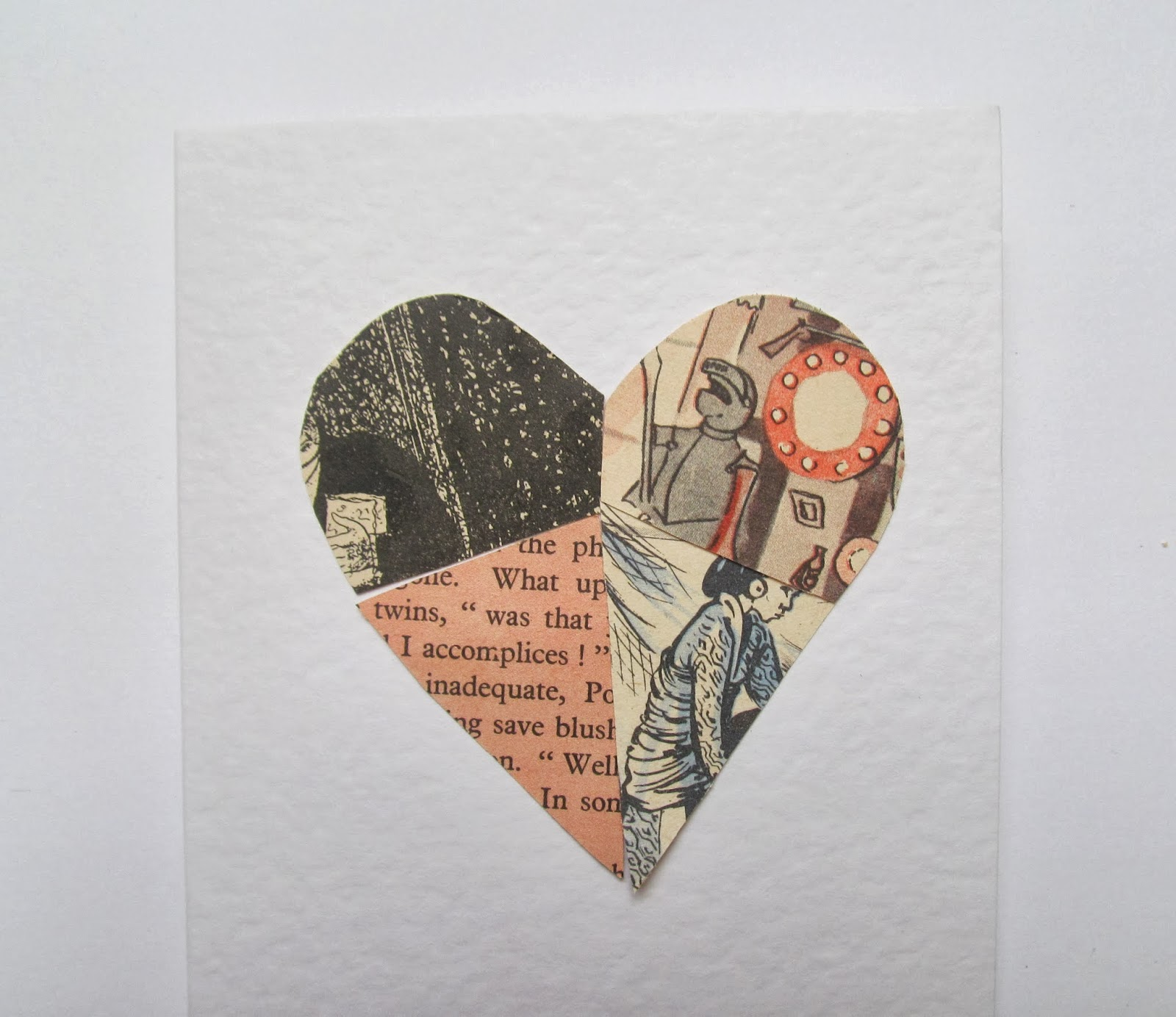 simple card made using paper ephemera