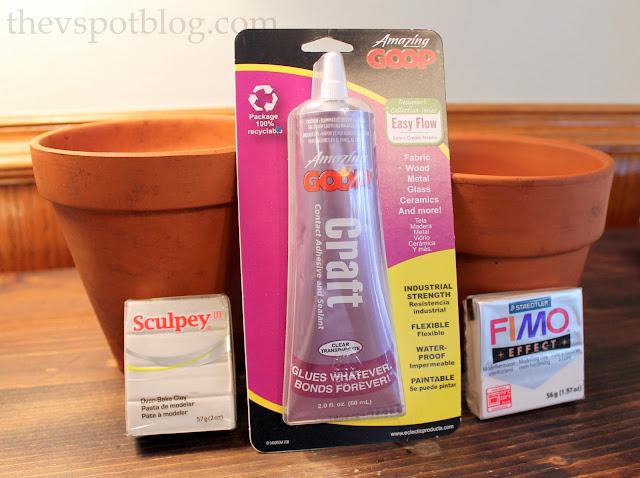 DIY flower pot project supplies