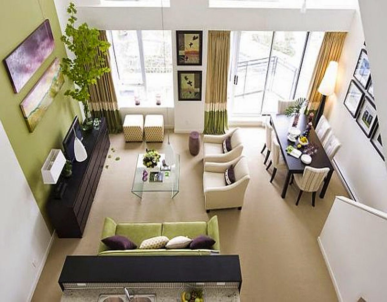 Dining Room Design Ideas Small Spaces Part - 16: Living Dining Room Decorating Ideas Small Spaces