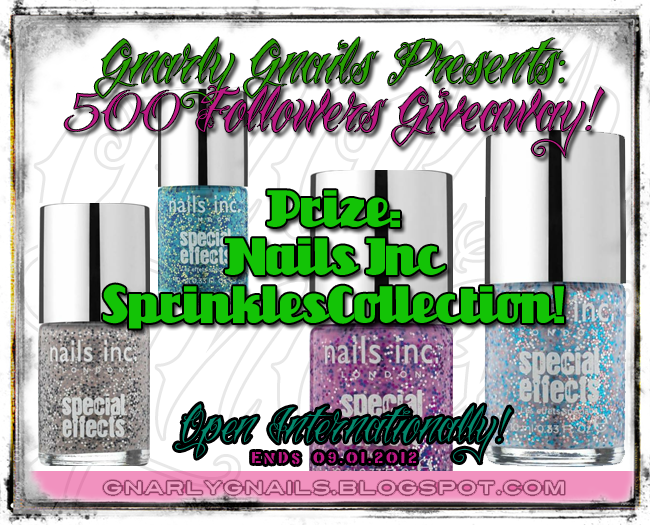 Gnarly Gnails's 500 Followers Giveaway