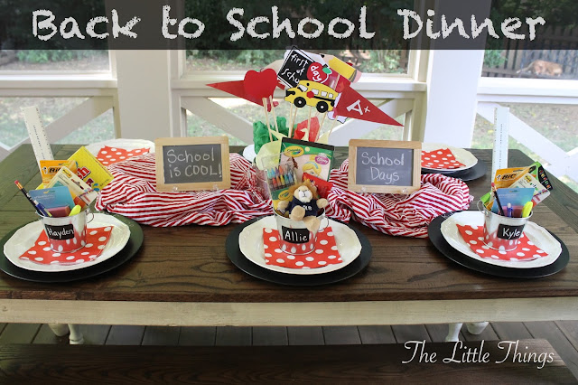 Back to School Dinner at The Little Things.  A fun tradition to get the school year started off on a fun note.