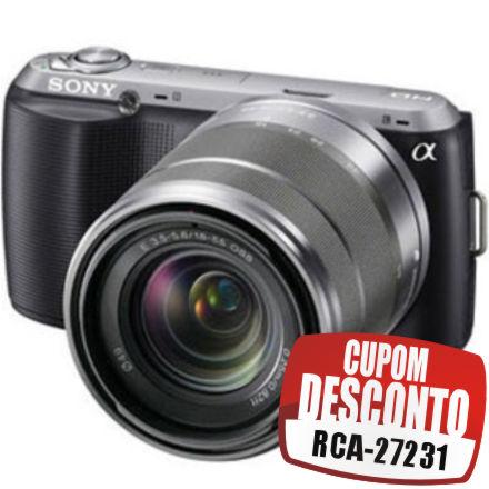 Cupom Efácil - Câmera Digital Sony NEX - C3 16.2MP