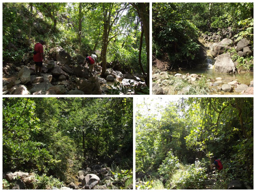 Descent through water trail