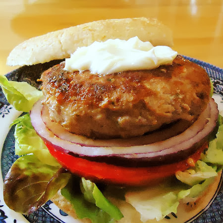 Asian-Style Turkey Burgers with Wasabi Mayo ...from the kitchen of One ...