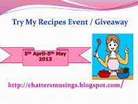 Try My recipes & give away