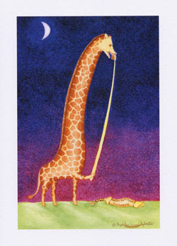 Giraffe Greeting cards for sale by UK giraffe artist Ingrid Sylvestre