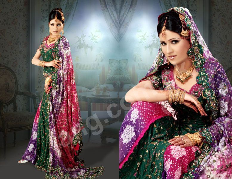 World's Most Favorite Wedding Style: Lengha Multicolor