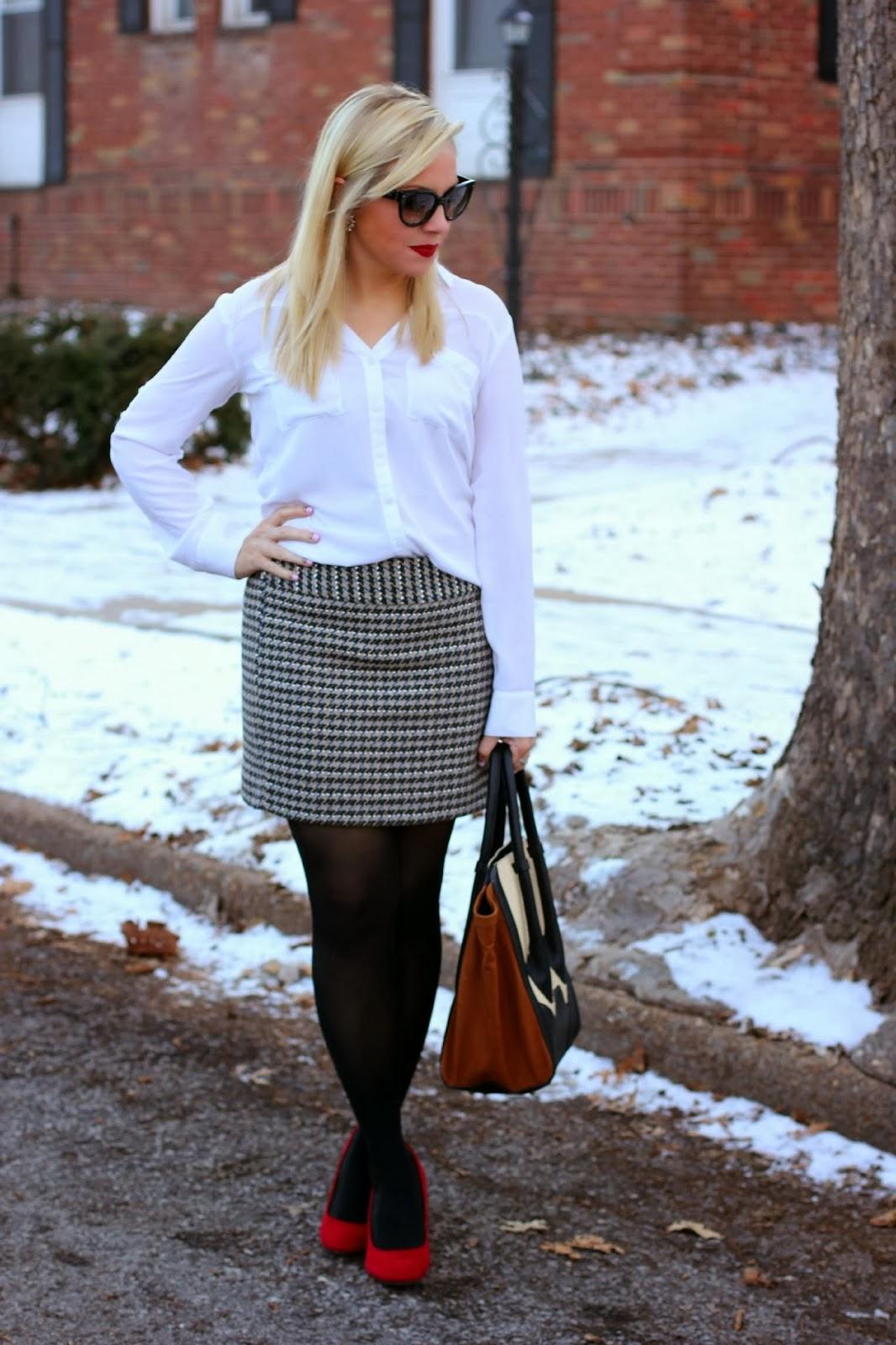 Express convertible sleeve portofino shirt, true white, outfit idea
