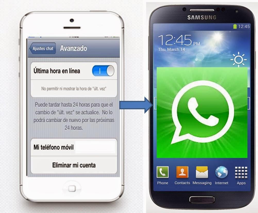 Whatsapp ocultar ultima conexion Android