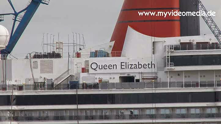 cruise ship Queen Elizabeth of the Cunard line