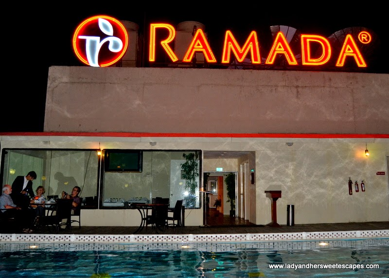 swimming pool at Ramada Jaipur