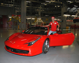 massa with his noleggio versilia super car