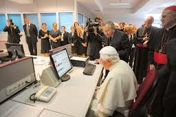 Pope writing a blog