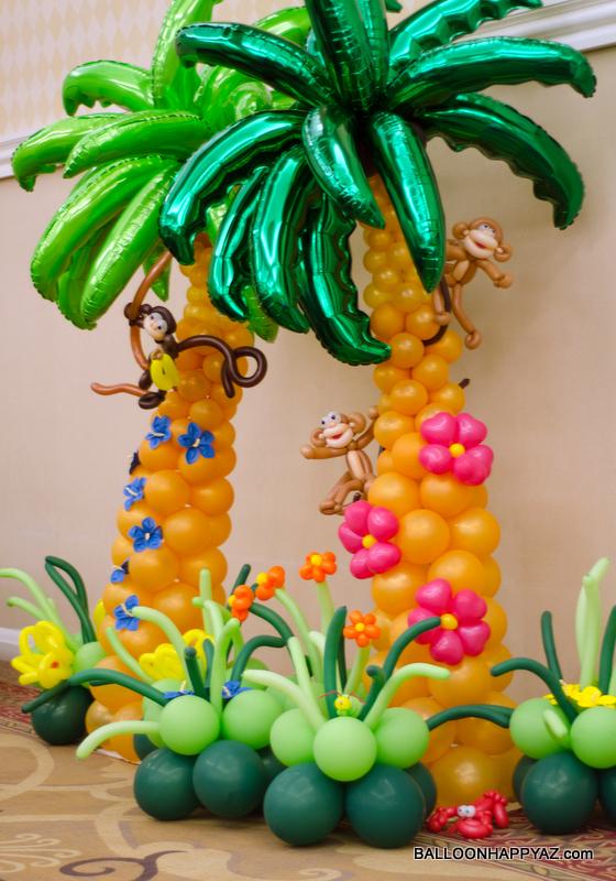 Hawaiian Party Room Decorations