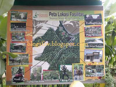 Kampoeng Kopi Banaran |  peta Lokasi Fasilitas