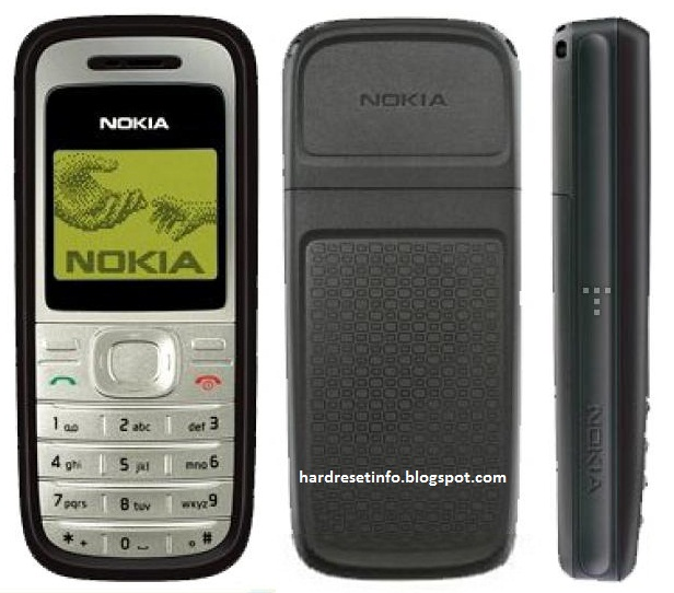Nokia 1200 - Full phone specifications