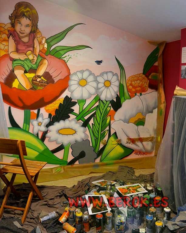Graffitis y murales para habitaciones de niñas