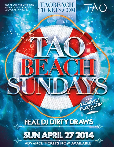Tao Beach Vegas Pool Party 2014 Opening Day