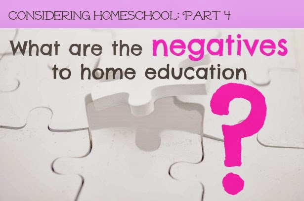 negatives to home education