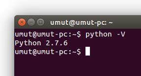 Ubuntu Python Sürümü